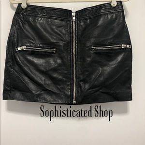 ◾️Macy's Leather Skirt Size 6◼️
